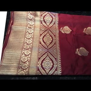 Other - Magenta colour Baranas saree